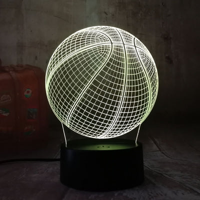 COOL 3D BALL HOME DECORATION – 7 COLORS LED BEDROOM LIGHT