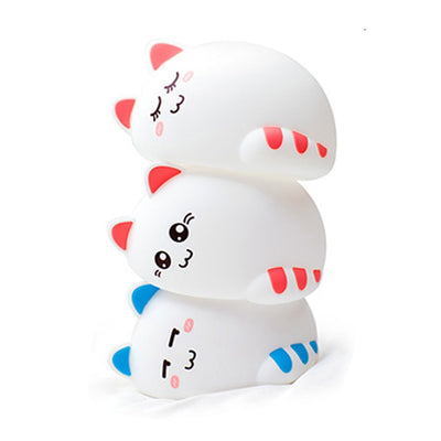 LED SILICON CAT NIGHT LIGHT – USB RECHARGEABLE BABY LIGHT