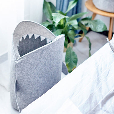 CARTOON SHARK WOOL LAUNDRY BASKET STORAGE