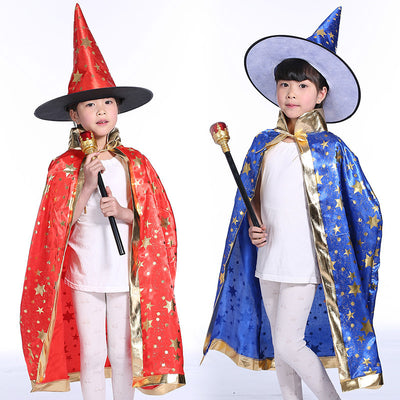 MAGICIAN CAPE HALLOWEEN COSTUMES FOR BOYS AND GIRLS