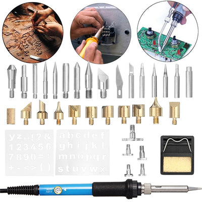 ADJUSTABLE SOLDERING IRON KIT – SOLDERING IRON PEN CRAFT TOOL SET