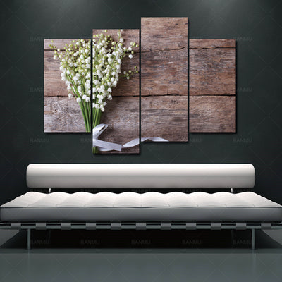 WOOD FLOWER WALL ART