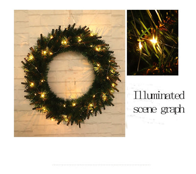 LED LIGHT WREATH – HOLIDAY WREATH – CHRISTMAS GARLAND