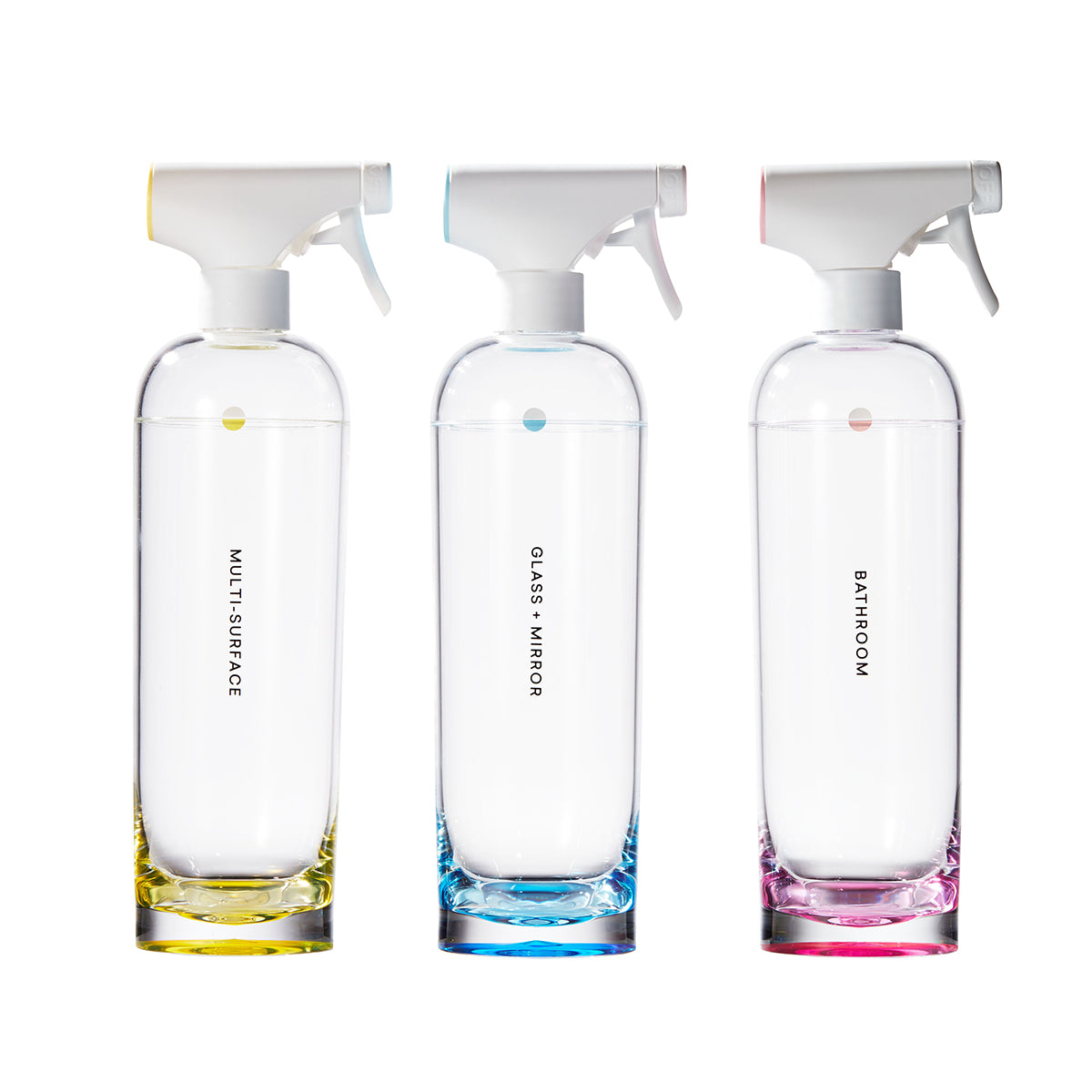 Three cleaning Forever Bottles against white background