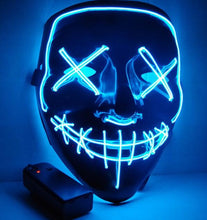 Load image into Gallery viewer, LED Halloween Purge Mask