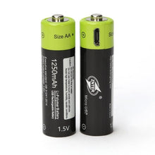 Load image into Gallery viewer, USB Rechargeable Batteries AA