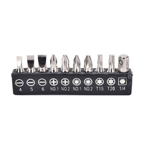FlexBit™ Steel Screwdriver Bits Set (10 pcs)