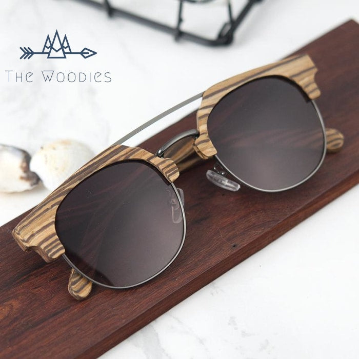The Woodies - Lunettes de Soleil en Bois - Rayé - The Woodies