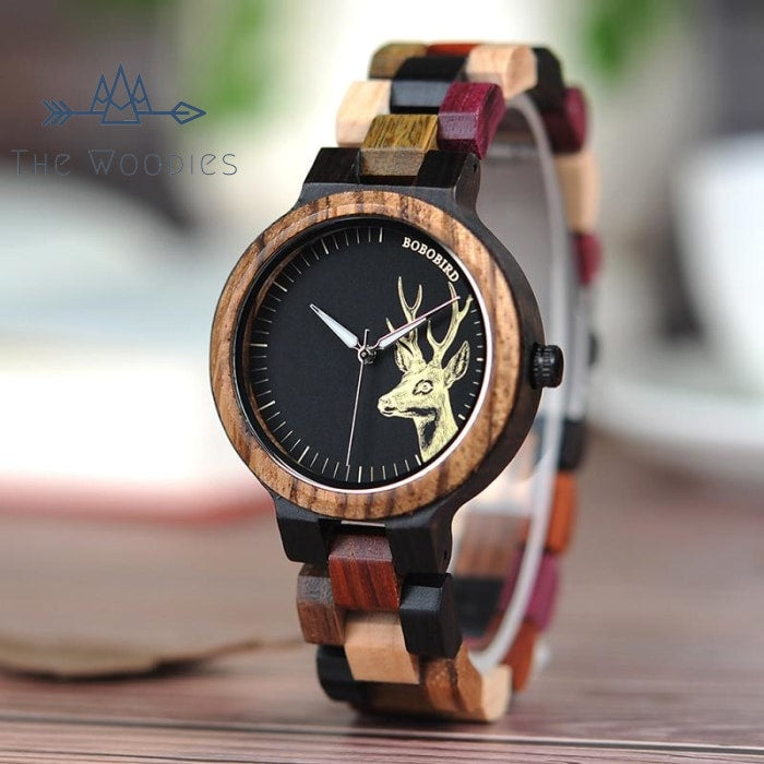 The Woodies - Montre en Bois Femme - Bois Coloré - The Woodies