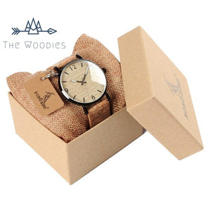The Woodies - Montre Femme en Bois  - Bracelet Liège - The Woodies