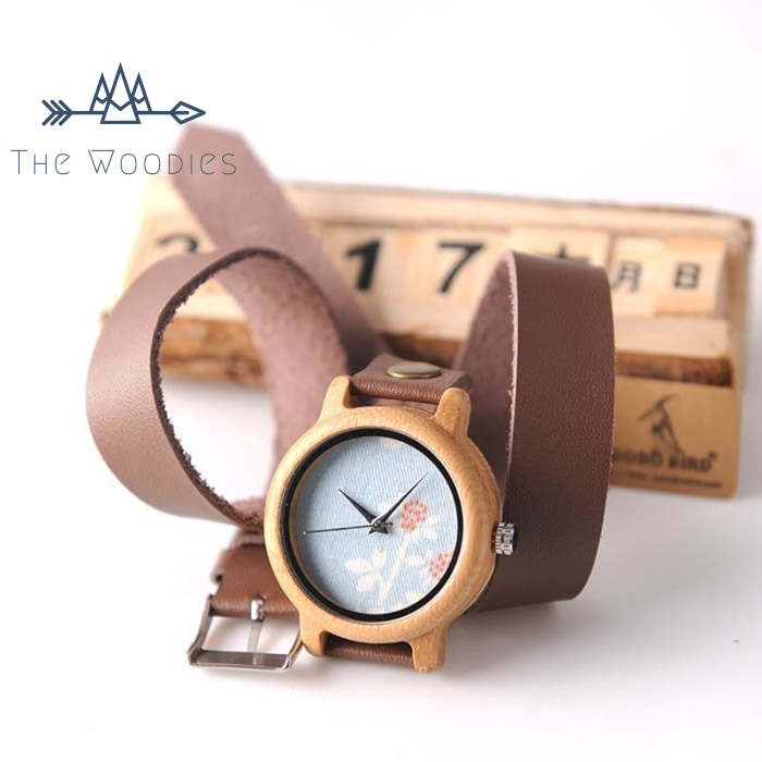The Woodies - Montre Femme en Bois - Bracelet Long - The Woodies