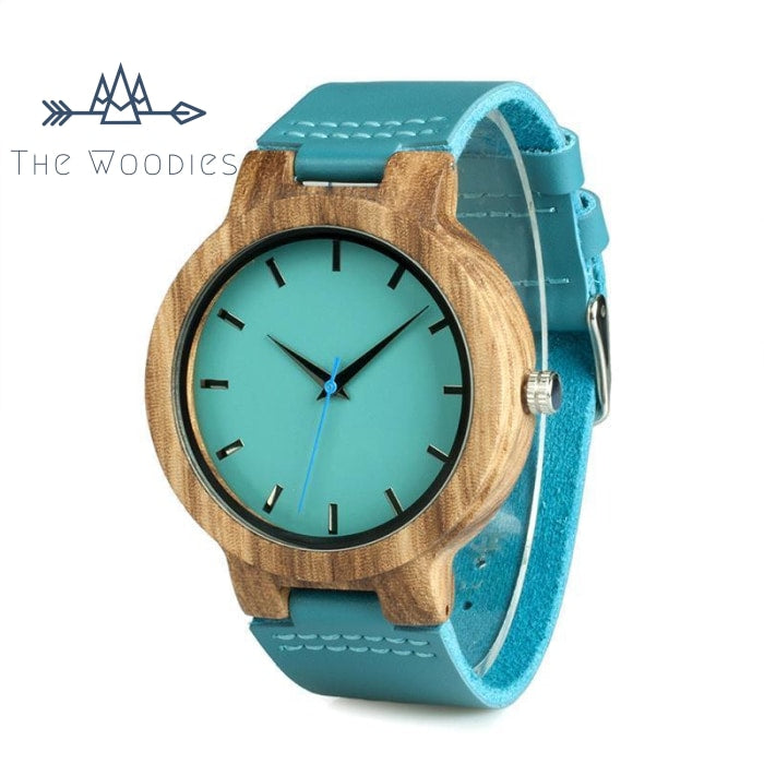 The Woodies - Montre Femme en Bois - Coloré Bleu - The Woodies