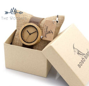 The Woodies - Montre Femme en Bois - Décoré - The Woodies