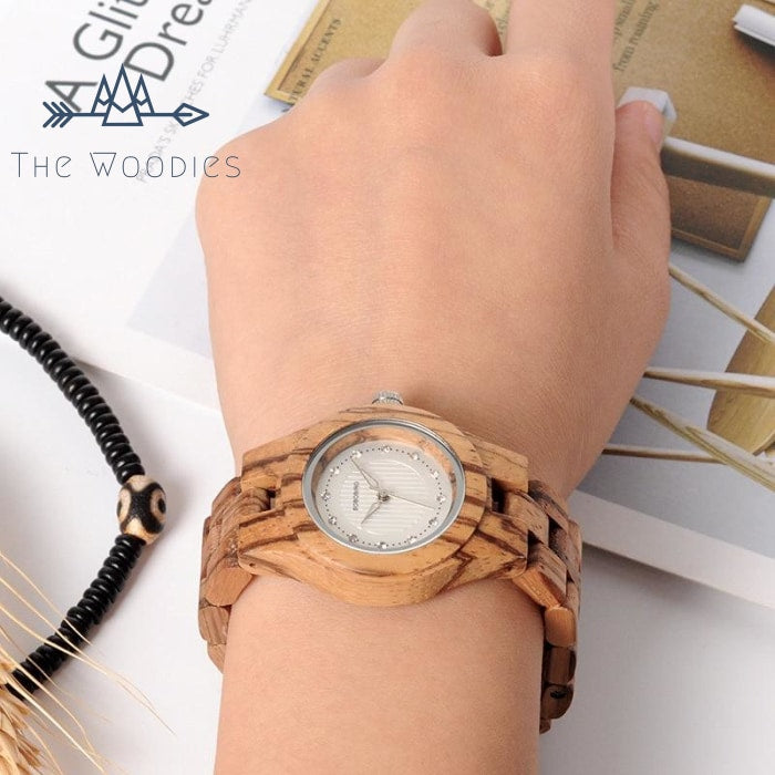 The Woodies - Montre Femme en Bois - Zébré - The Woodies