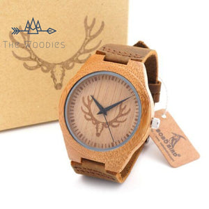The Woodies - Montre Homme en Bois - Cerf - The Woodies