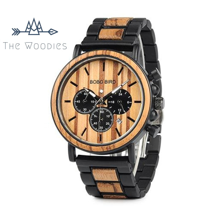 The Woodies - Montre Homme en Bois - Chronographe - The Woodies