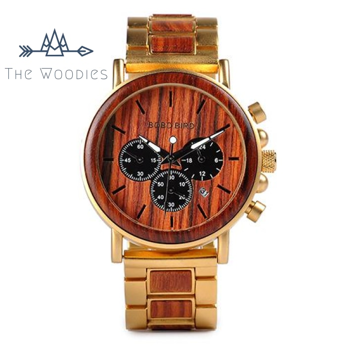 The Woodies - Montre Homme en Bois - Elegante - The Woodies