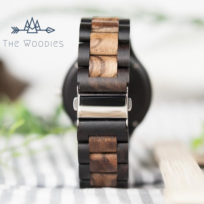 The Woodies - Montre Homme en Bois - Foncé - The Woodies
