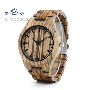 The Woodies - Montre Homme en Bois - Strié - The Woodies