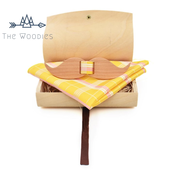 The Woodies - Noeud Papillon en Bois - Kit Moustache - The Woodies