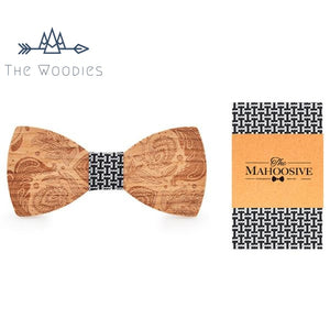 The Woodies - Noeud Papillon en Bois - Kit Naturel Décoré - The Woodies