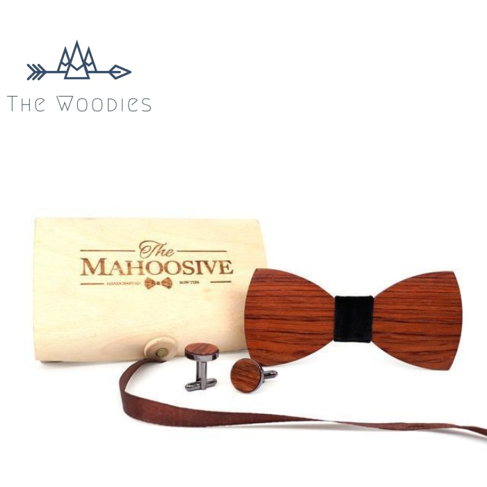 The Woodies - Noeud Papillon en Bois - Kit Naturel - The Woodies