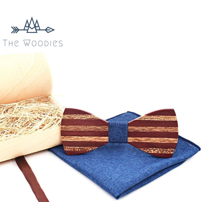 The Woodies - Noeud Papillon en Bois - Kit Rayé Vintage - The Woodies