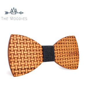 The Woodies - Noeud Papillon en Bois - Motif Canevas - The Woodies