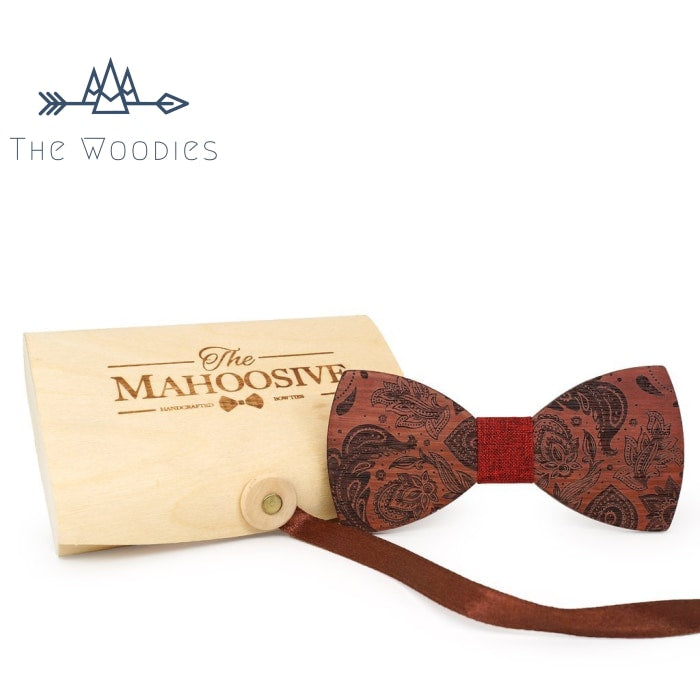 The Woodies - Nœud Papillon en Bois - Vintage Motif - The Woodies