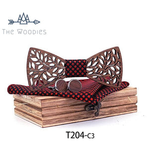 The Woodies - Noeud Ppaillon en Bois - Kit Feuille - The Woodies