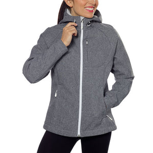 NWT Kirkland Signature Ladies' Softshell Jacket Heather Grey Size S