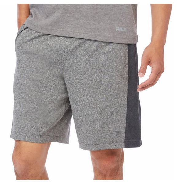 NWT Fila Mens Active Atheltic Moisture Wicking Basketball Gym Shorts Grey Size M