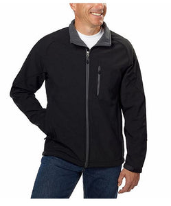 NWT Kirkland Signature Mens Water Resistant 4-Way Stretch Softshell Jacket Black Size XXL