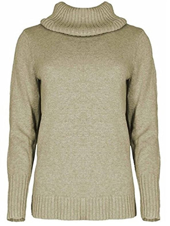 NWT Nautica Women's Soft Knitted Turtle Neck Long Sleeve Semi Fitted Sweater Oatmeal Select Size
