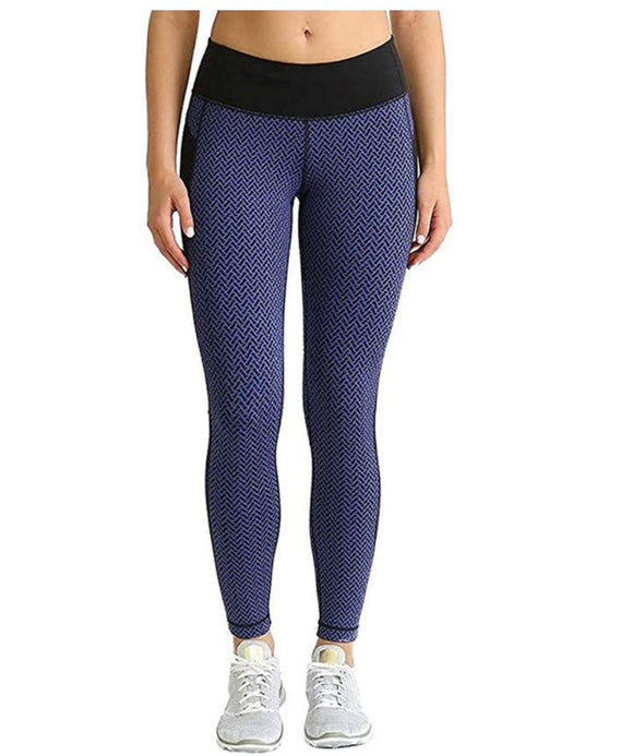 NWT Kirkland Signature Ladies' Jacquard Active Tight Blue Size S