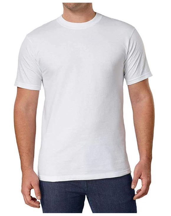 Open Package Kirkland Signature Mens White T-Shirts Crew Neck 6 Pack