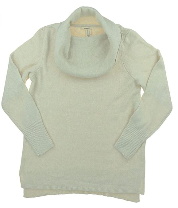 DKNY Jeans Womens Cowl Neck Sweater Almond Size L