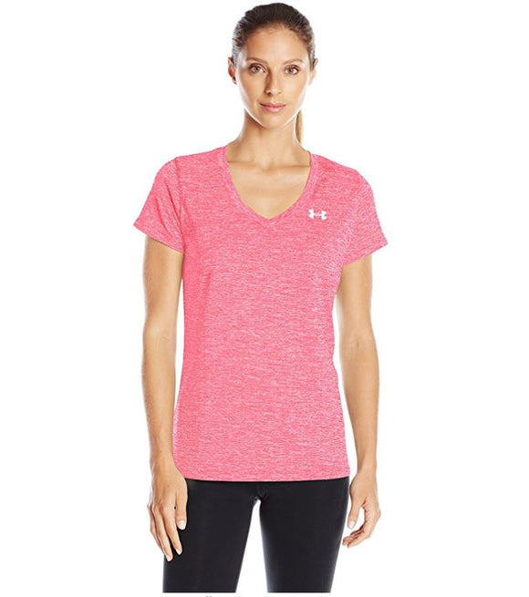 NWT NWT Under Armour UA Women's V-Neck Active Tee Pink Size S
