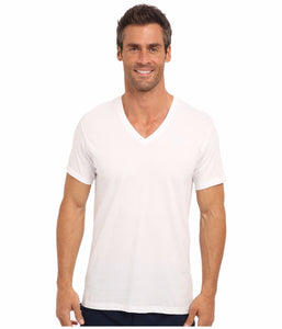 NWT Calvin Klein Men's Cotton Stretch V-Neck Classic Fit T-Shirt White