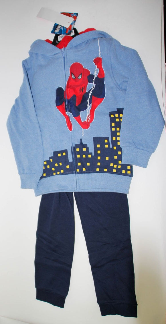 NWT Spider-Man 2 Piece Jacket Pants Set Blue Size 6