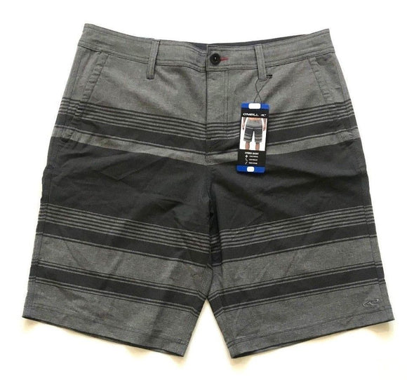 NWT O'Neill Quick Drying Hybrid Striped Short Heather Grey Select Size