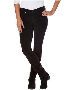 NWT CALVIN KLEIN LADIES' ULTIMATE SKINNY BLACK CORDUROY PANTS SELECT SIZE