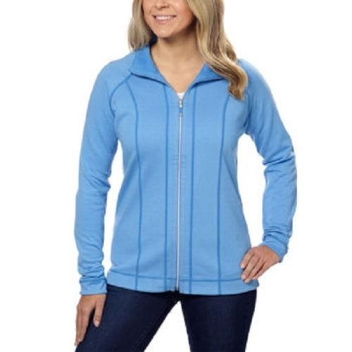 KIRKLAND SIGNATURE LADIES' REVERSIBLE FULL ZIP JACKET BLUE SIZE L