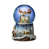 Santa Flying over Village 120mm SnowGlobe