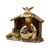 Nativity Stable w/Holy Family Figurine