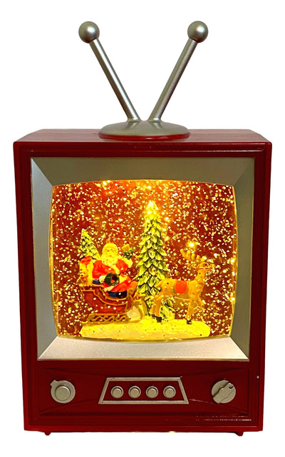 Santa in Spinning Water Television