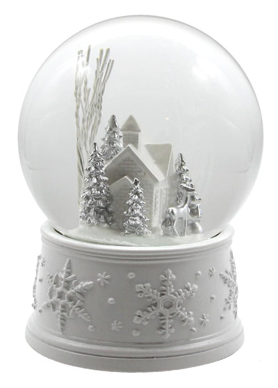 100MM White Christmas Snow Globe
