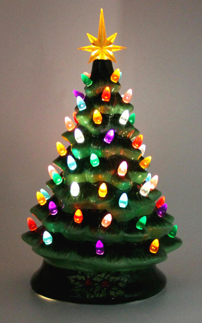 "14"" Musical Ceramic Lighted Christmas Tree"