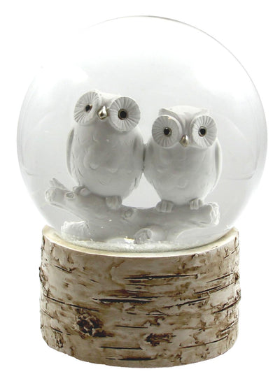 White Owl Babies 120MM Snow Globe