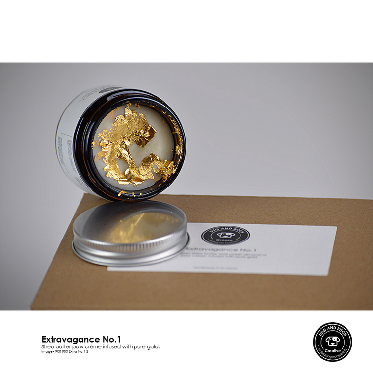 Dug and Bitch Extravagance No. 1 - A decadent shea butter balm infused with gold from Keeper & Co.